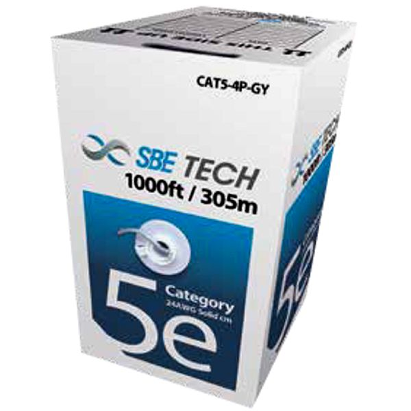 SBE-UTPC5ECU-GY, Cable UTP Cat5e, Gris, 305m